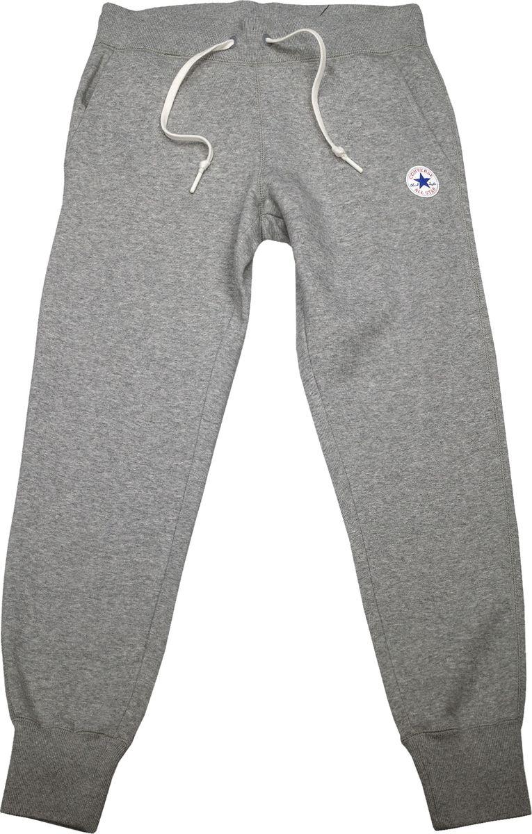 Брюки спортивные женские Converse Core Signature Pant, цвет: серый. 10004546035. Размер S (44)10004546035