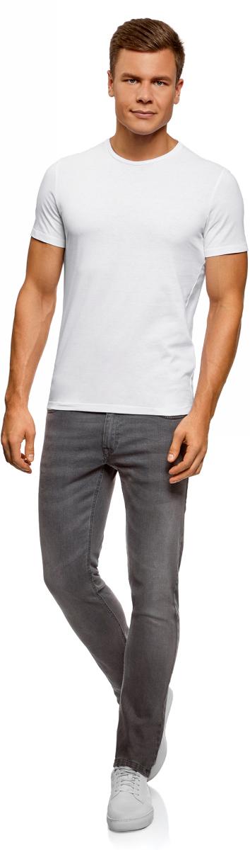 Футболка мужская oodji Basic, цвет: белый, 7 шт. 5B621002T7/44135N/1000N. Размер XS (44)5B621002T7/44135N/1000NБазовая футболка из натурального хлопка. Круглый вырез, приталенный крой и короткий узкий рукав. В мужском гардеробе обязательно должна быть такая базовая футболка, поскольку ее можно носить в разных сочетаниях и в любое время года, создавая разные образы. Такая футболка эффектно смотрится с принтованными хлопчатобумажными шортами. В прохладную погоду можно надевать футболку под джемпер или рубашку. Базовая футболка хорошо сочетается со спортивными костюмами и шортами. В ней удобно заниматься спортом.