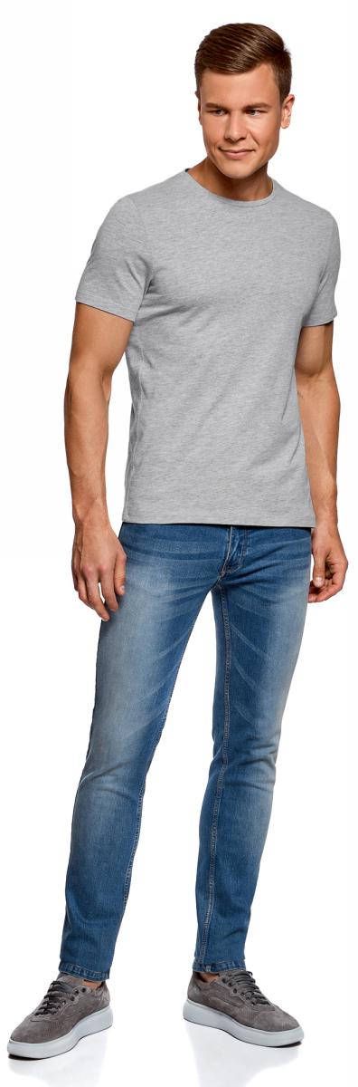 Футболка мужская oodji Basic, цвет: серый меланж, 7 шт. 5B621002T7/44135N/2300M. Размер L (52/54)5B621002T7/44135N/2300MБазовая футболка из натурального хлопка. Круглый вырез, приталенный крой и короткий узкий рукав. В мужском гардеробе обязательно должна быть такая базовая футболка, поскольку ее можно носить в разных сочетаниях и в любое время года, создавая разные образы. Такая футболка эффектно смотрится с принтованными хлопчатобумажными шортами. В прохладную погоду можно надевать футболку под джемпер или рубашку. Базовая футболка хорошо сочетается со спортивными костюмами и шортами. В ней удобно заниматься спортом.