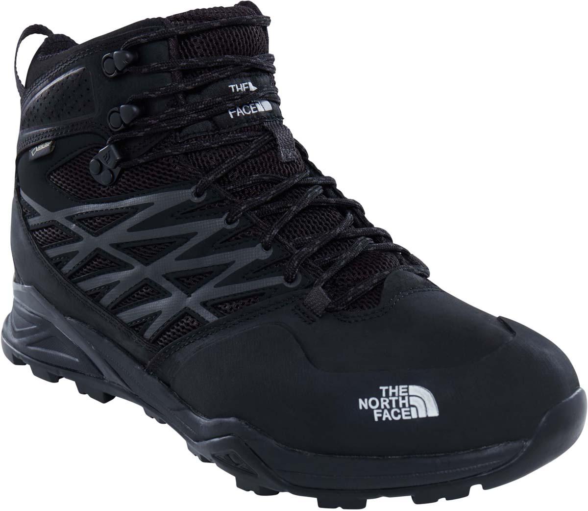 Ботинки мужские The North Face M Hh Hike Mid Gtx , цвет: черный. T0CDF5KX7. Размер 11 (44,5)T0CDF5KX7Легкие ботинки средней высоты с водонепроницаемой и дышащей мембраной GORE-TEX®, жесткой основой из ТПУ и верха из слоистой кожи - обеспечат защиту и поддержку стопы на пересеченной местности. Оборудованы эксклюзивной подошвой Vibram®, которая гарантирует сцепление с поверхностью при путешествии в любых условиях.