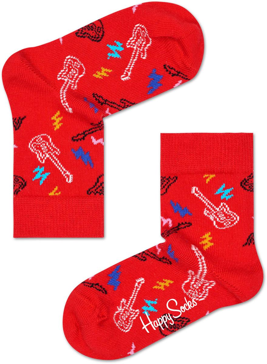 Носки детские Happy socks, цвет: красный, мультиколор. KGUI01. Размер 14, 1-2 годаKGUI01