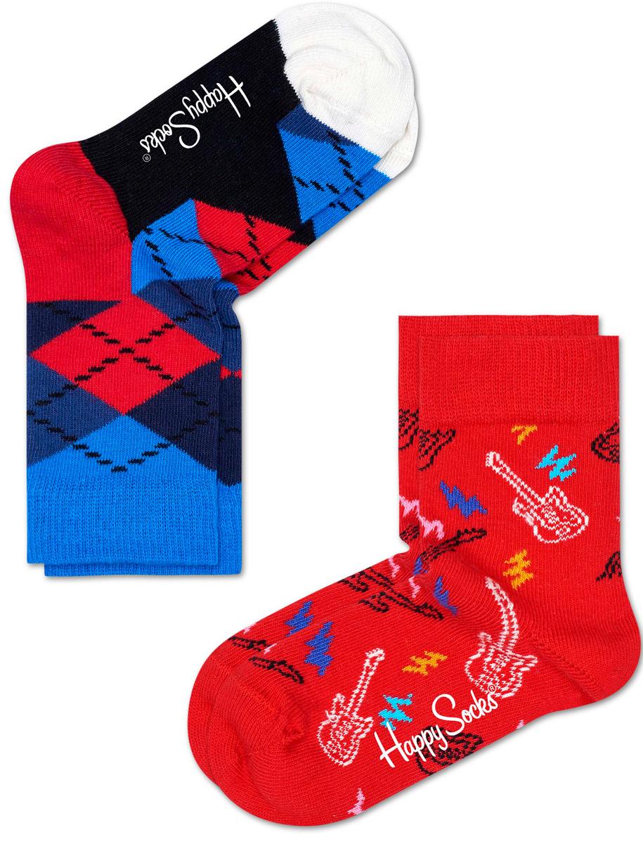 Носки детские Happy socks, цвет: красный, мультиколор. KGUI02. Размер 20, 7-9 летKGUI02