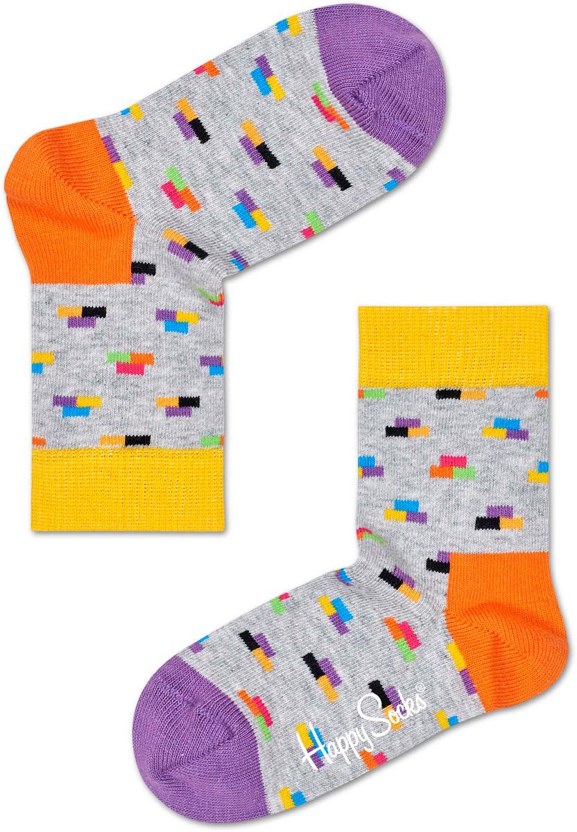 Носки детские Happy socks, цвет: светло-серый, мультиколор. KBRI01. Размер 14, 1-2 годаKBRI01