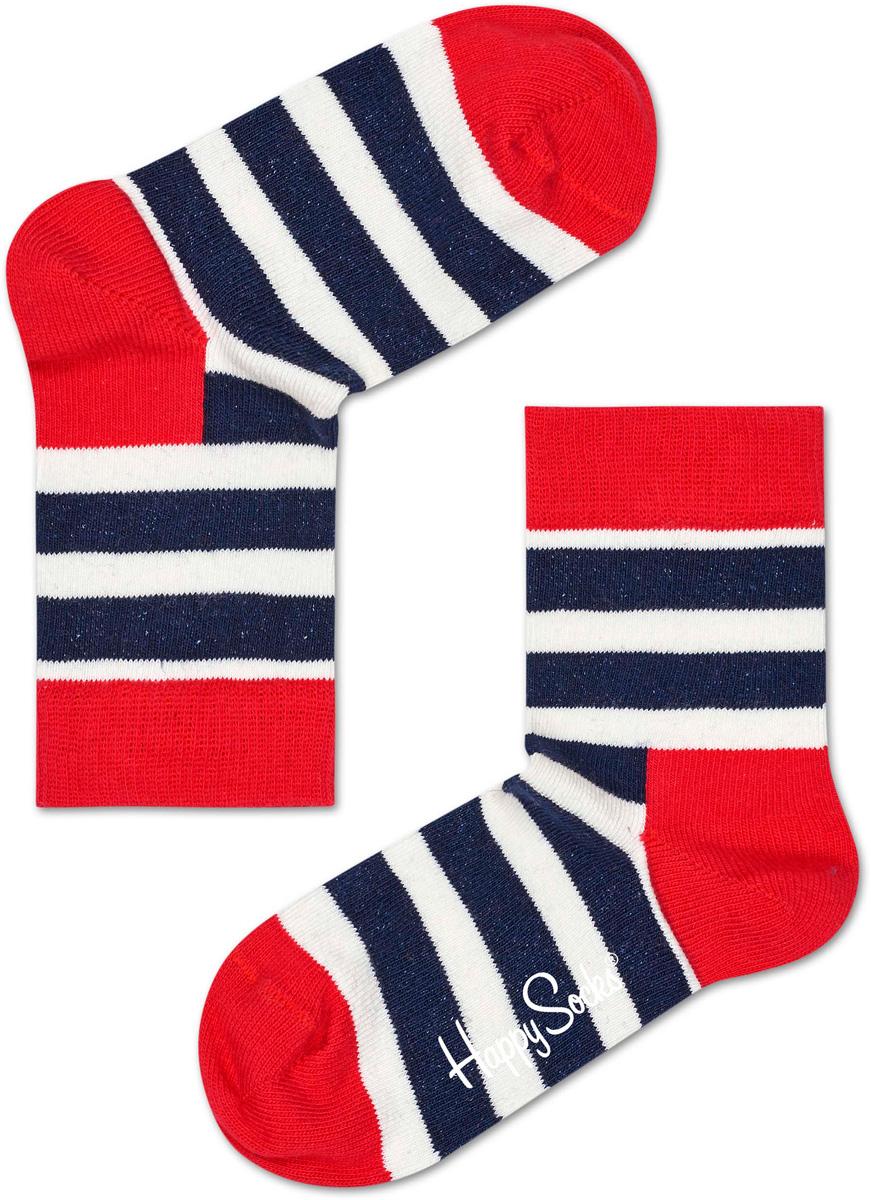 Носки детские Happy socks, цвет: синий, красный. KSTR01. Размер 15, 2-3 годаKSTR01