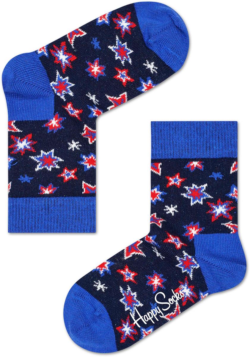 Носки детские Happy socks, цвет: темно-синий, голубой. KBNG01. Размер 20, 7-9 летKBNG01