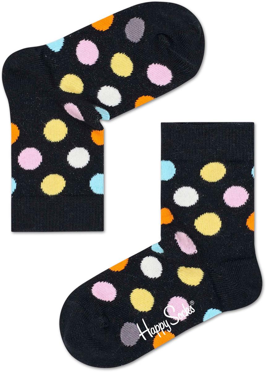 Носки детские Happy socks, цвет: черный, мультиколор. KBDO01. Размер 20, 7-9 летKBDO01