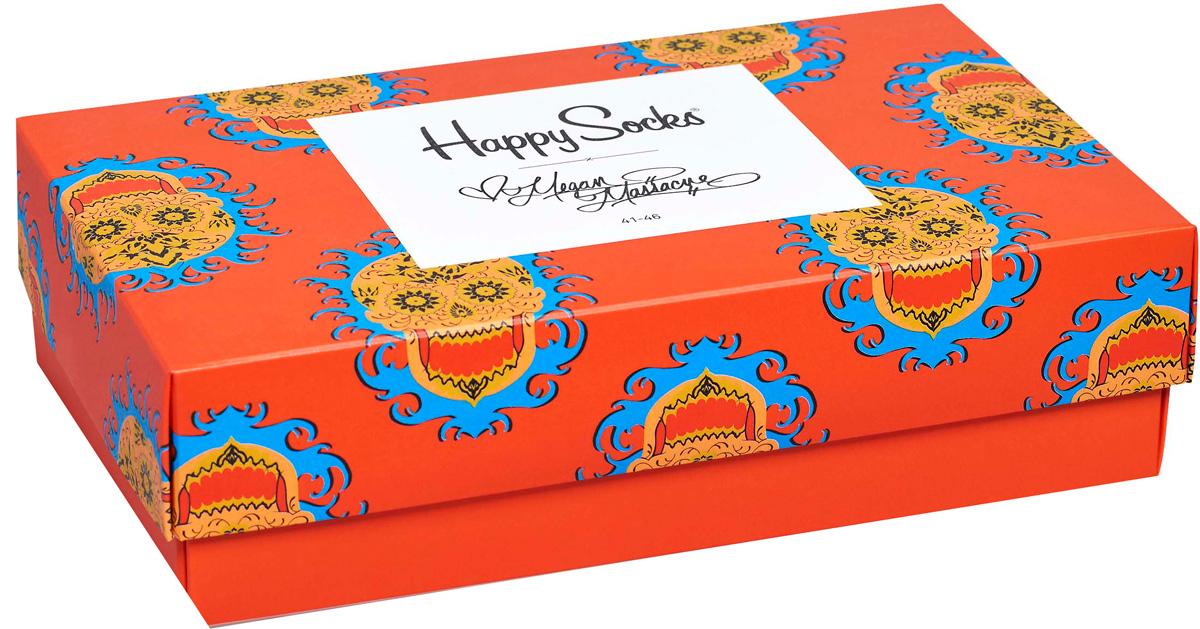 Носки мужские Happy socks, цвет: мультиколор. XMEG08. Размер 29XMEG08