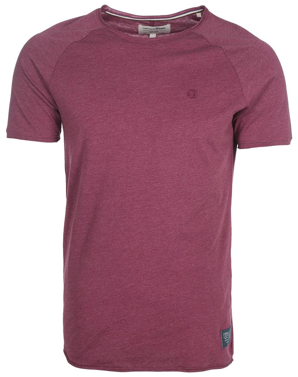 Футболка мужская Tom Tailor, цвет: бордовый. 1055016.00.12_4266. Размер L (50)1055016.00.12_4266Мужская футболка от Tom Tailor выполнена из хлопкового трикотажа. Модель с короткими рукавами-реглан и круглым вырезом горловины.
