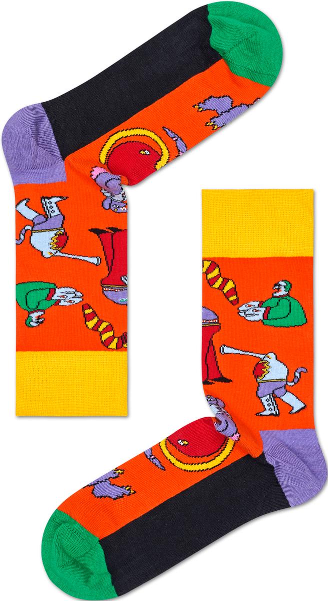 Носки женские Happy socks, цвет: оранжевый. BEA01. Размер 25BEA01