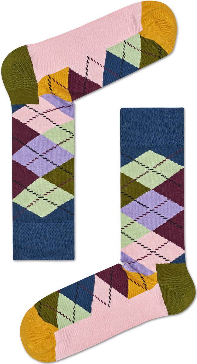 Носки женские Happy socks, цвет: светло-розовый, мультиколор. ARY01. Размер 25