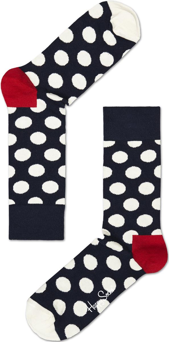 Носки женские Happy socks, цвет: темно-синий, белый. BD01. Размер 25BD01
