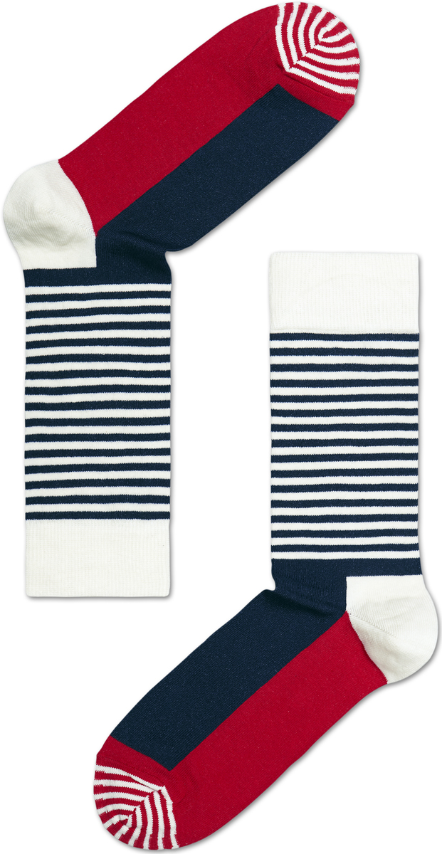 Носки женские Happy socks, цвет: темно-синий, белый. SH01. Размер 25SH01