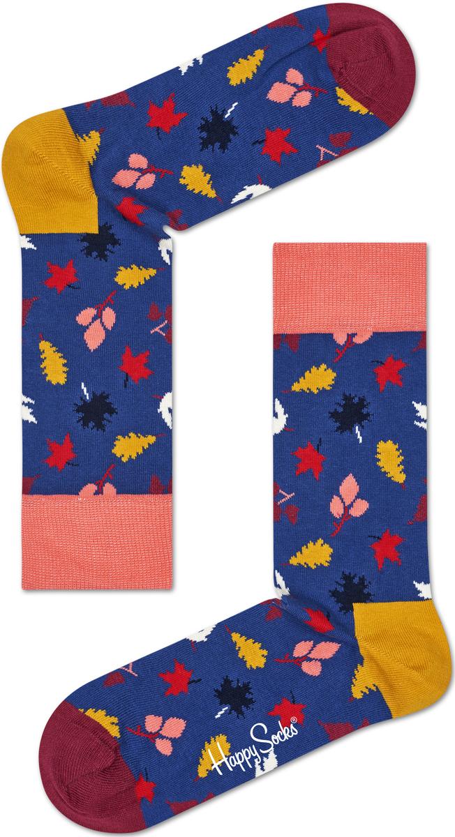 Носки женские Happy socks, цвет: синий, мультиколор. FAL01. Размер 25FAL01