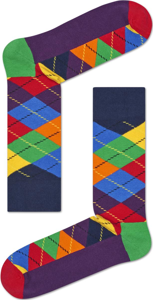 Носки женские Happy socks, цвет: фиолетовый, мультиколор. ARY01. Размер 25ARY01