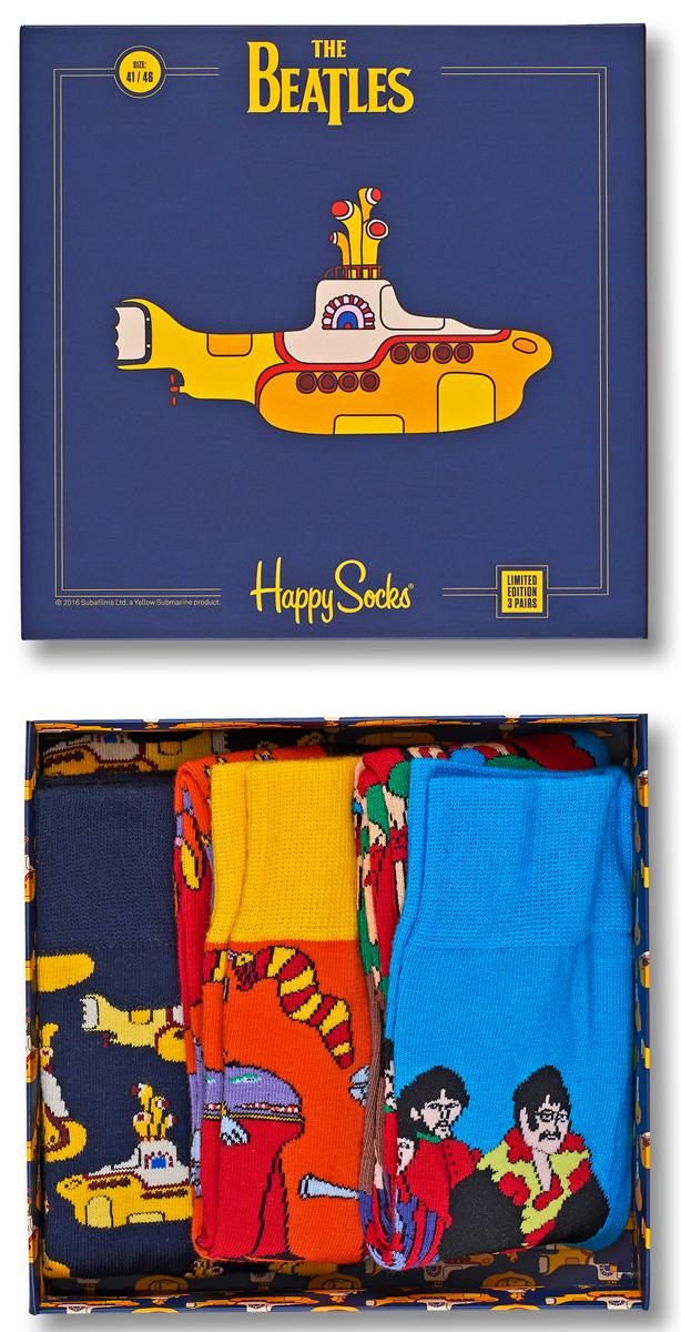 Носки мужские Happy socks, цвет: мультиколор. XBEA08. Размер 29XBEA08