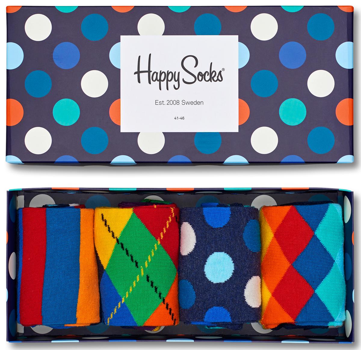 Носки мужские Happy socks, цвет: мультиколор. XMIX09. Размер 29