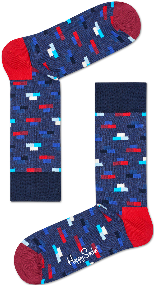 Носки мужские Happy socks, цвет: синий, красный. BRI01. Размер 29BRI01