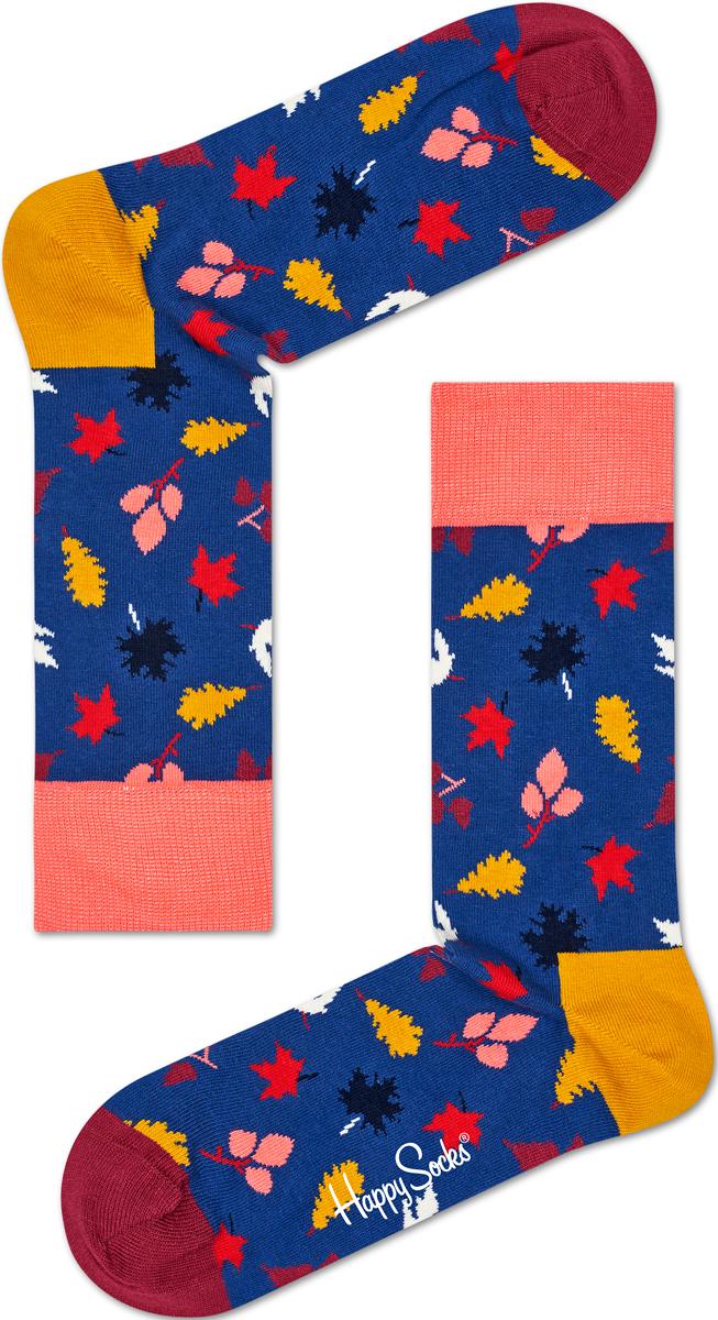 Носки мужские Happy socks, цвет: синий, мультиколор. FAL01. Размер 29FAL01