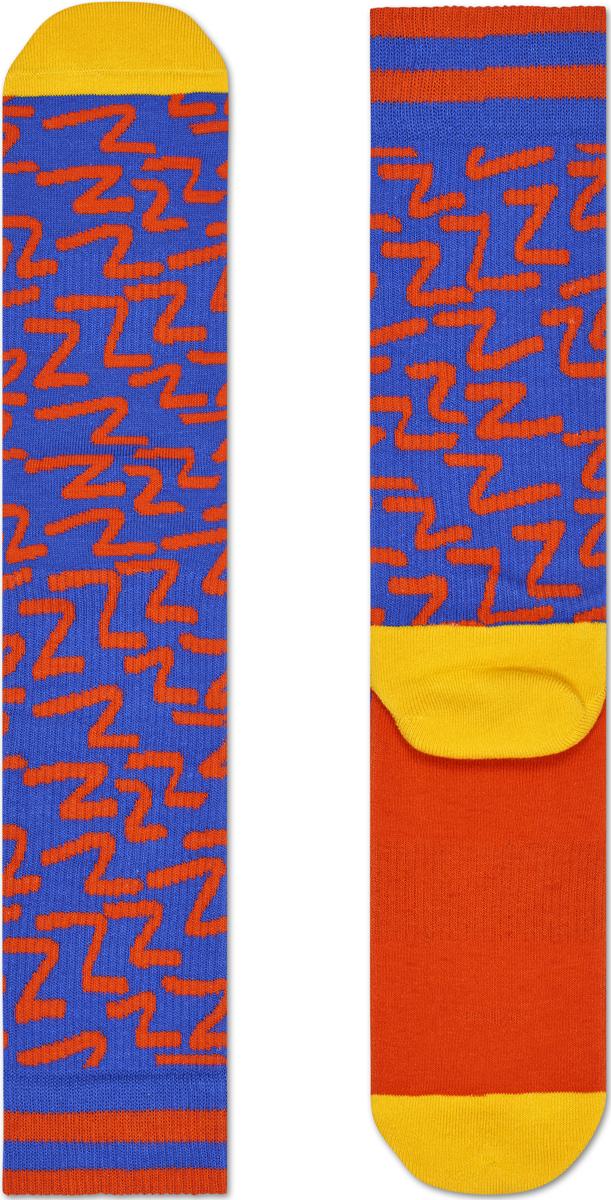 Носки мужские Happy socks, цвет: синий, оранжевый. ATZZZ27. Размер 29ATZZZ27