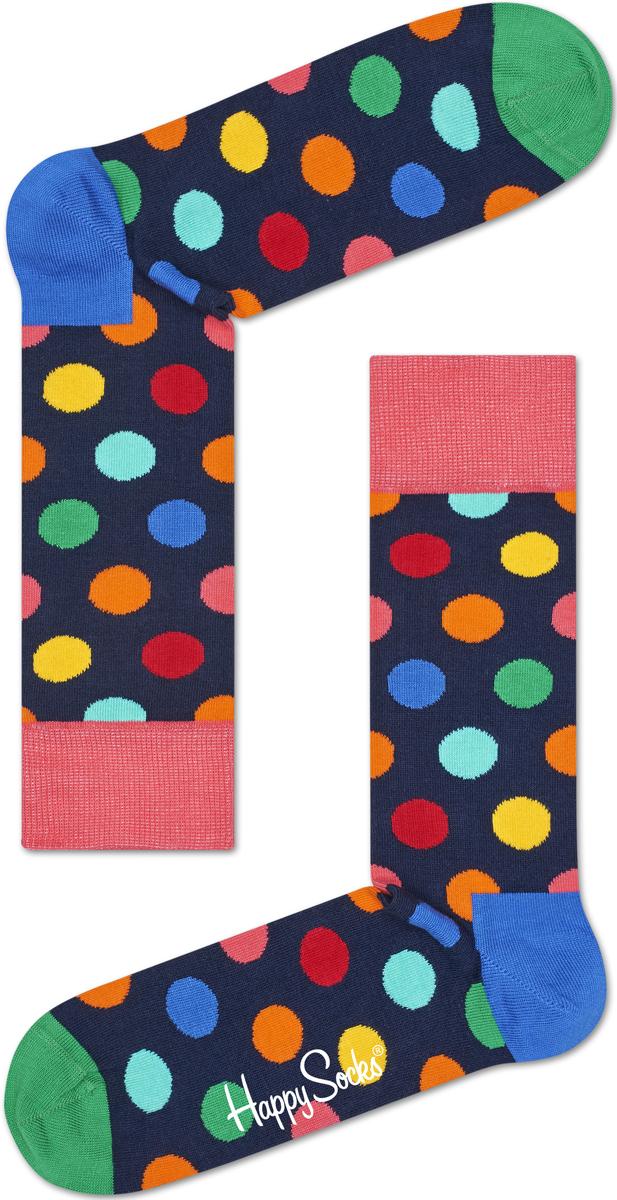 Носки мужские Happy socks, цвет: темно-синий, мультиколор. BDO01. Размер 29