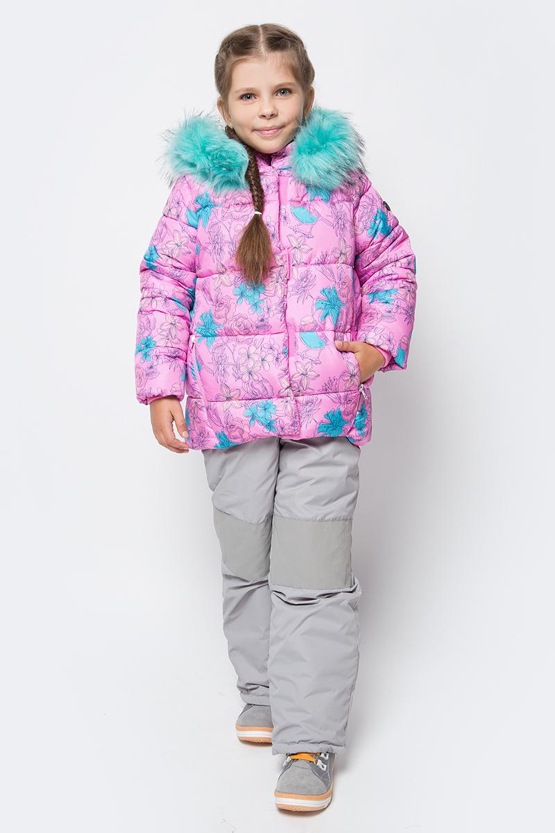 Комплект для девочки Boom!: куртка, полукомбинезон, цвет: розовый. 70465_BOG_вар.1. Размер 98, 3-4 года70465_BOG_вар.1Теплый комплект для девочки Boom! идеально подойдет вашей дочурке в холодное время года. Комплект состоит из куртки и полукомбинезона, изготовленных из водоотталкивающей ткани с утеплителем из синтепона. Куртка на мягкой флисовой подкладке застегивается на пластиковую застежку-молнию. Курточка дополнена несъемным капюшоном, декорированным меховой опушкой на молнии. Дополнен капюшон скрытой резинкой со стопперами. Низ рукавов дополнен внутренними трикотажными манжетами, которые мягко обхватывают запястья.Полукомбинезон с грудкой застегивается на пластиковую застежку-молнию и имеет наплечные эластичные лямки, регулируемые по длине. На талии предусмотрена вшитая широкая эластичная резинка, которая позволяет надежно заправить рубашку, водолазку или свитер. По бокам предусмотрены два прорезных кармана. Снизу брючины дополнены внутренними манжетами с прорезиненными штрипками, препятствующими попаданию снега в обувь и не дающими брючинам ползти вверх. Комфортный, удобный и практичный комплект идеально подойдет для прогулок и игр на свежем воздухе!