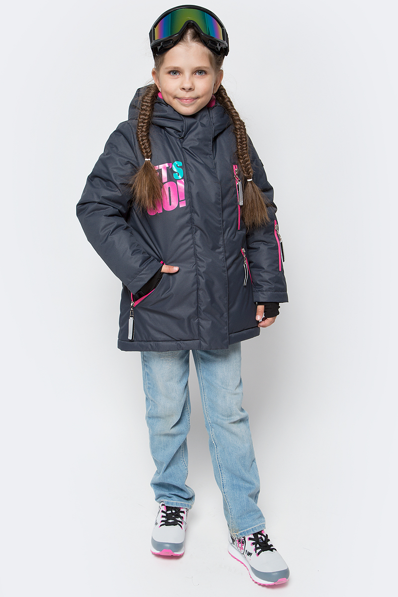 Куртка для девочки Boom!, цвет: черный. 70867_BOG_вар.3. Размер 158, 11-12 лет70867_BOG_вар.3Куртка от Boom! изготовлена из водонепроницаемого и ветрозащитного материала с утеплителем из Fibersoft. Модель на подкладке из теплого флиса застегивается на пластиковую застежку-молнию. Куртка дополнена капюшоном и вместительными карманами. Рукава имеют внутренние трикотажные манжеты с прорезью для большого пальца. Оригинальные дизайнерские элементы делают модель необычной и яркой.
