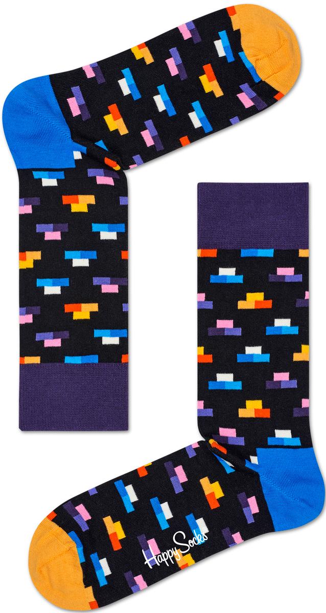 Носки мужские Happy socks, цвет: черный, мультиколор. BRI01. Размер 29BRI01