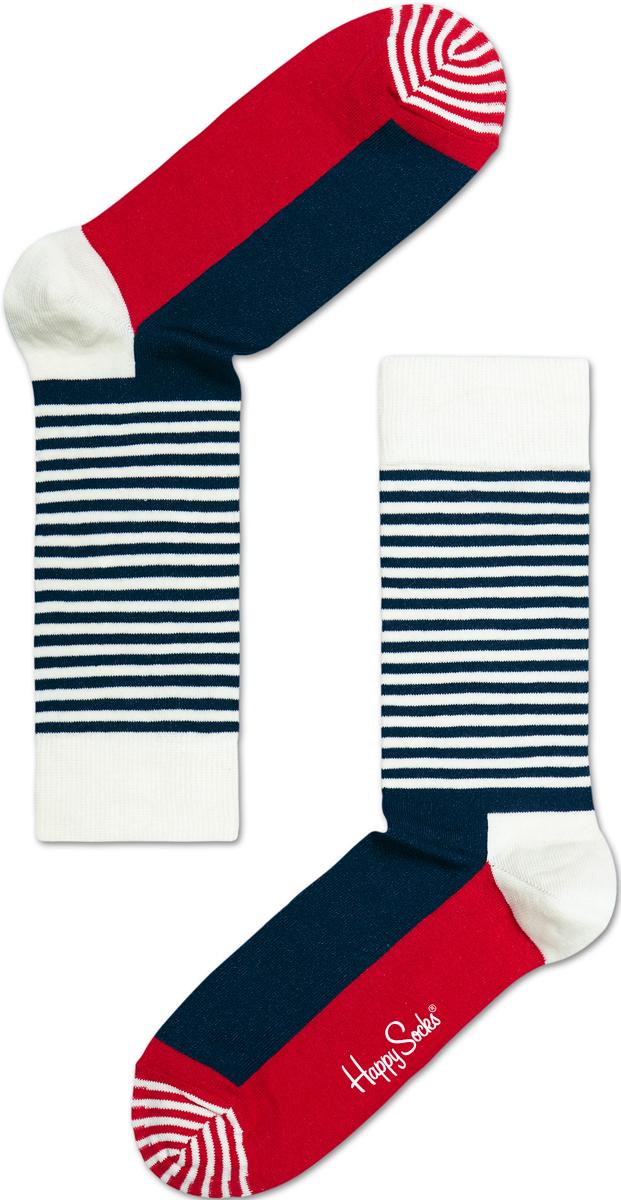 Носки мужские Happy socks, цвет: темно-синий, белый. SH01. Размер 29SH01