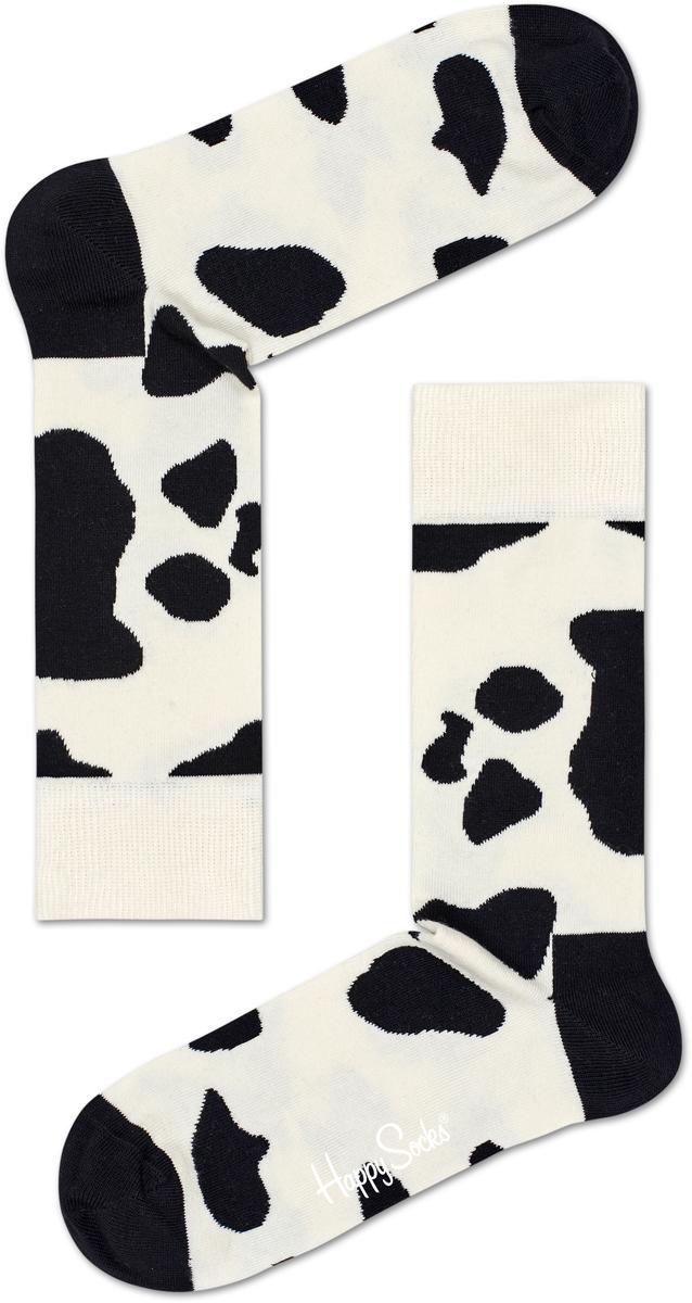 Носки мужские Happy socks, цвет: белый, черный. CO01. Размер 29CO01
