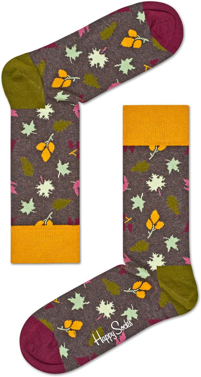 Носки женские Happy socks, цвет: серый, мультиколор. FAL01. Размер 25FAL01