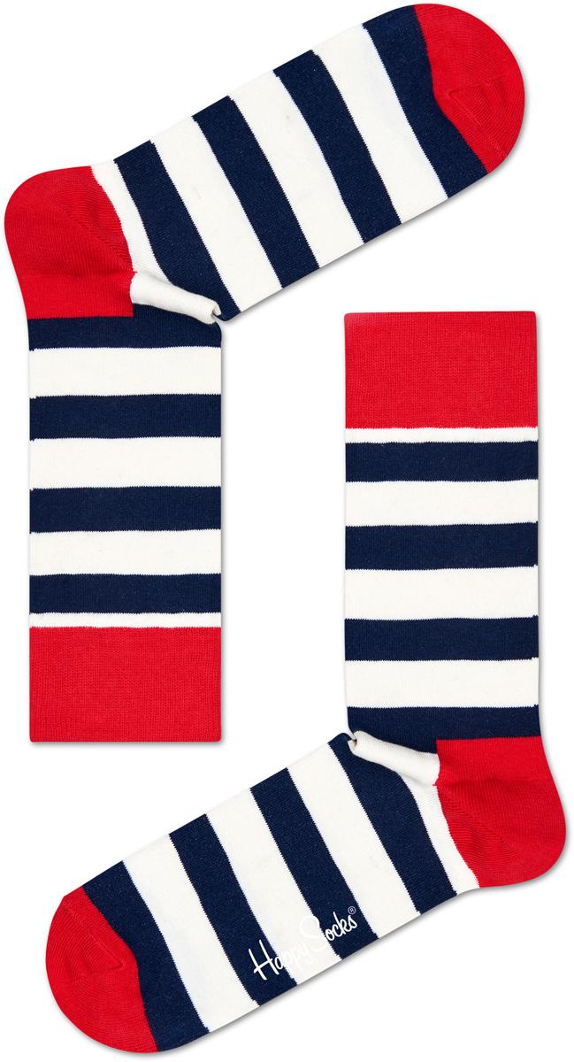Носки женские Happy socks, цвет: белый, темно-синий. SA01. Размер 25SA01