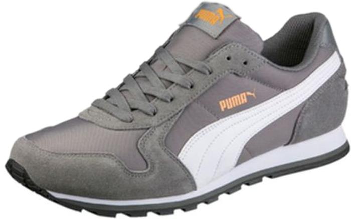 Кроссовки мужские Puma ST Runner NL, цвет: серый, белый. 35673841. Размер 7,5 (40)35673841Стремительный силуэт роднит кроссовки ST Runner с моделями, предназначенными для любителей бега, вписываясь в общую концепцию комфорта, стиля и новизны, характерную для данной серии.Кроссовки ST Runner NL от Puma - это воплощение комфорта и классического лаконичного стиля, что делает их подходящими для бега, активного отдыха и повседневной носки. Модель оформлена фирменной полосой Puma и гармонично сочетается с одеждой разных стилей.Верх модели выполнен из замши с нейлоновыми вставками. Язычок и задник украшает логотип Puma Cat. Внутренняя отделка - из мягкого текстиля. Шнуровка гарантирует удобство и надежно фиксирует модель на стопе.Межподошва из материала EVA обеспечивает хорошую амортизацию. Резиновая подошва отличается прекрасным сцеплением с любой поверхностью.В кроссовках ST Runner NL вам гарантирована оптимальная легкость и комфорт!