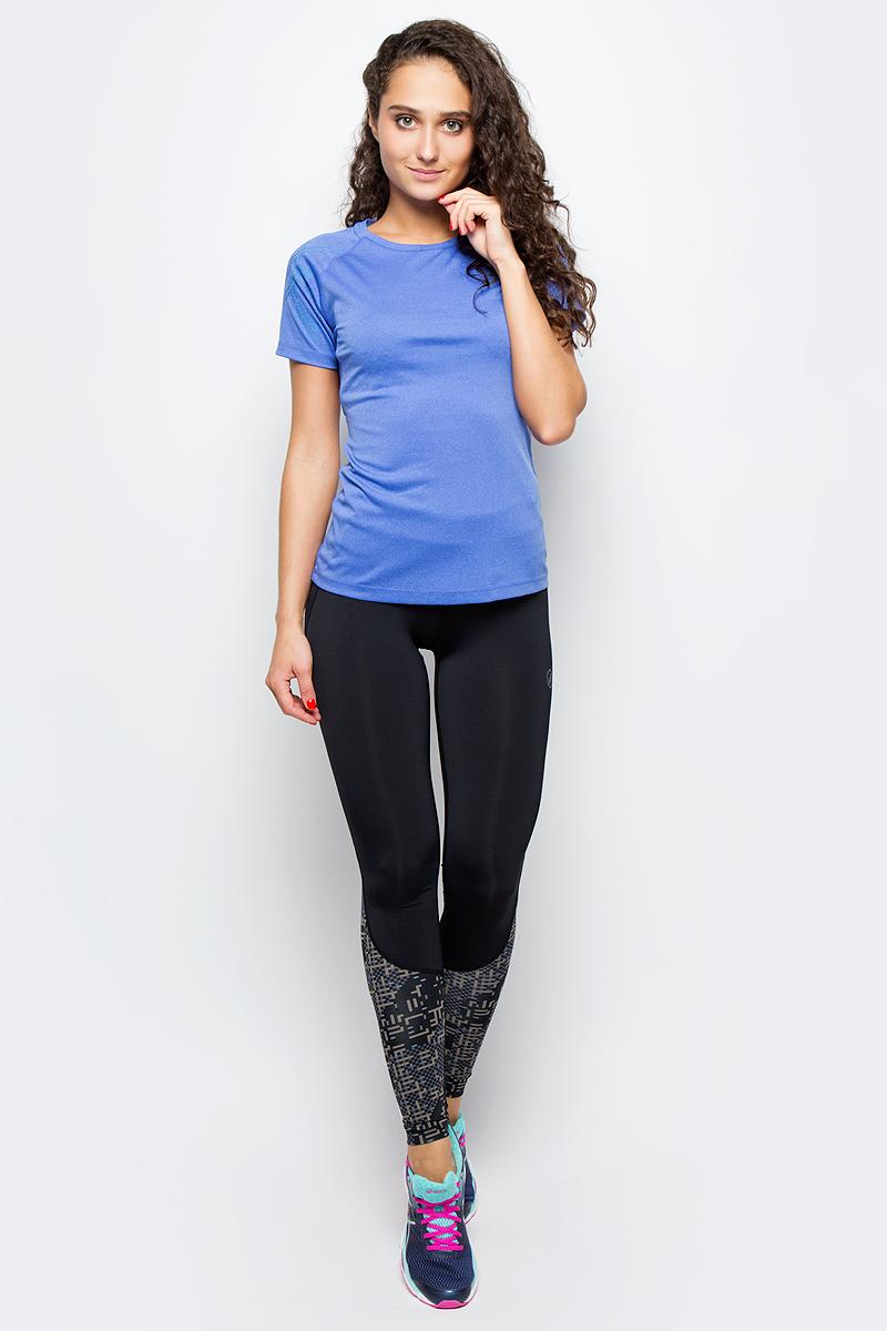 Футболка для бега женская Asics Stripe SS Top, цвет: фиолетовый. 141224-8135. Размер L (48/50)141224-8135Футболка Asics предназначена специально для бега. Эта легкая беговая футболка обеспечит вам безупречный комфорт и достижение высоких спортивных результатов благодаря мягкой, эластичной ткани, которая отводит влагу и поддерживает тело сухим. Плоские швы не натирают кожу и обеспечивают полный комфорт. Фасон рукавов-реглан элегантен и создает свободу движений. Футболка декорирована логотипом. Максимальный комфорт и уникальный спортивный образ!