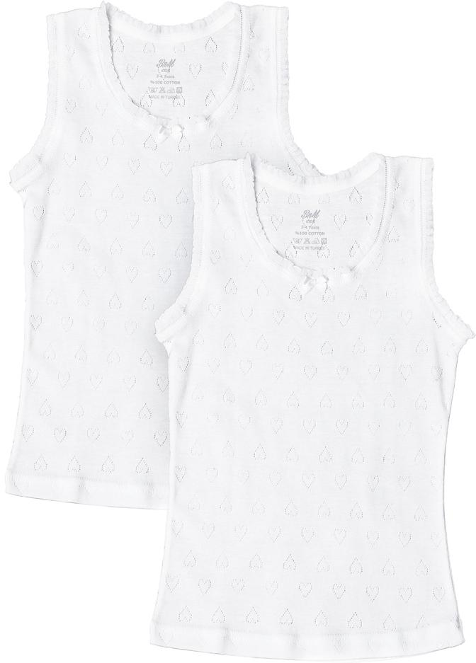 Майка для девочки Buonumare, цвет: белый, 2 шт. 5229 BNM. Размер 3 (98)5229 BNM