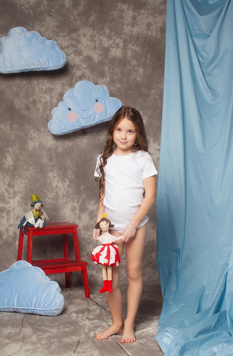 Футболка для девочки Buonumare, цвет: белый, 2 шт. 089 BNM. Размер 3 (98)089 BNM