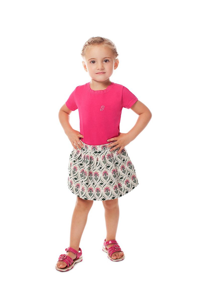 Футболка для девочки Buonumare, цвет: фуксия. c0c1501-0008 BNM 20222. Размер 1 (86)c0c1501-0008 BNM 20222