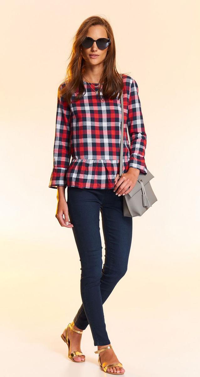 Блузка жен Top Secret , цвет: красный. SBD0722CE. Размер 38 (46)SBD0722CE