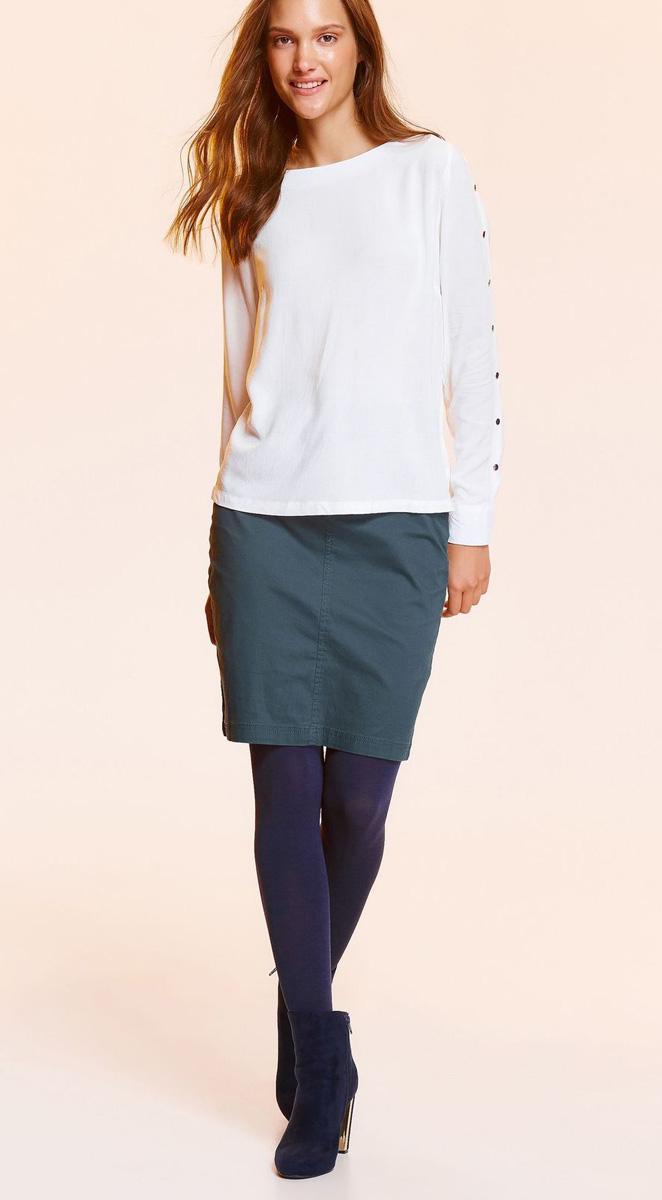 Блузка женская Top Secret, цвет: белый. SBD0724BI. Размер 40 (48)SBD0724BIСтильная блузка Top Secret выполнена из легкой вискозы. Модель с круглым вырезом горловины и длинными рукавами. Спинка оформлена кокеткой. Рукава декорированы пуговицами. Лаконичный дизайн блузки позволит комбинировать ее с различными предметами вашего гардероба.
