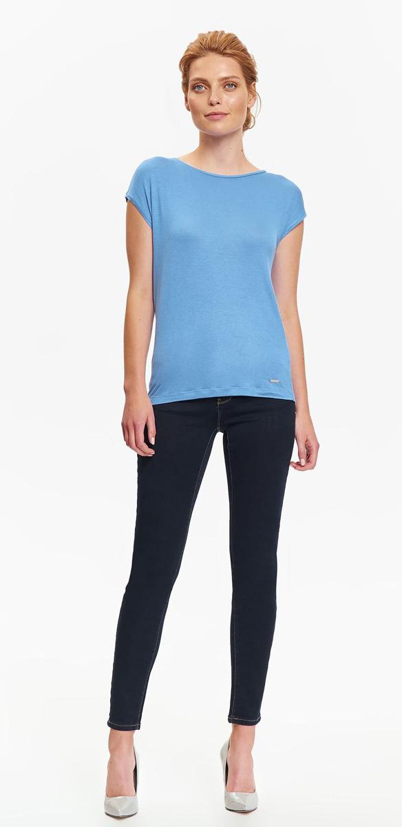 Футболка женская Top Secret , цвет: синий. SPO3277NI. Размер 38 (46)SPO3277NIЛаконичная футболка Top Secret выполнена из мягкой вискозы. Модель с округлой горловиной и короткими цельнокроеными рукавами. Такая футболка станет прекрасным дополнением вашего базового гардероба.