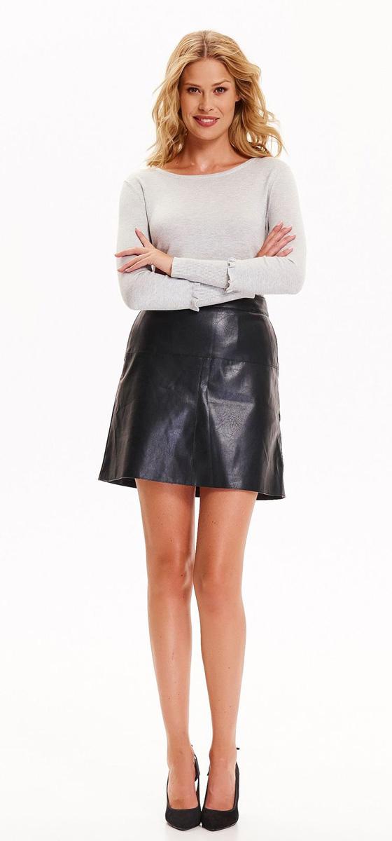 Юбка Top Secret , цвет: черный. SSD1141CA. Размер 34 (42)SSD1141CAСтильная мини-юбка Top Secret выполнена из полиуретана - материала, имитирующего кожу. Модель трапециевидного кроя с посадкой на талии, по бокам дополнена прорезными карманами. Сзади юбка застегивается на металлическую застежку-молнию.