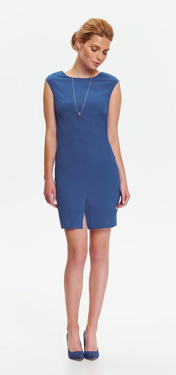 Платье Top Secret, цвет: синий. SSU1953NI. Размер 38 (46)SSU1953NIСтильное платье-футляр Top Secret выполнено из плотного материала. Модель облегающего кроя, с круглым вырезом горловины и без рукавов. На спинке изделие застегивается на потайную застежку-молнию. Спереди предусмотрена шлица для удобства движений. Такое платье прекрасно впишется в ваш гардероб и подчеркнет все достоинства фигуры своей обладательницы.