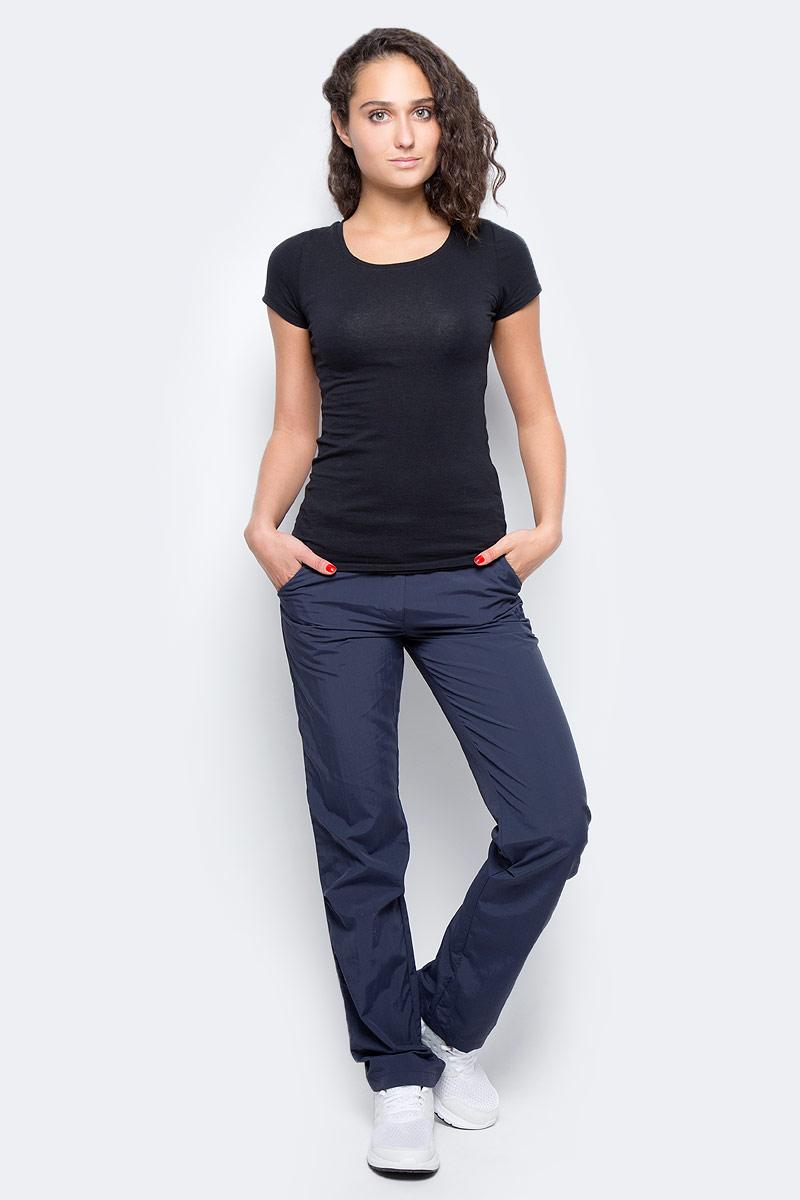 Брюки женские Jack Wolfskin Kalahari Pants W, цвет: темно-синий. 1503311-1010. Размер 40 (48)1503311-1010Брюки женские Kalahari Pants W выполнены из ткани SUPPLEX (100% полиамид). Брюки имеют множество преимуществ, особенно практичных в путешествии по жарким регионам: они легкие, защищают от ультрафиолетового излучения (UPF 40+) и упаковываются очень компактно. К тому же материал очень быстро сохнет. Модель застегивается на ширинку с молнией и пуговицу в поясе. Пояс дополнен шлевками для ремня. Брюки имеют два втачных кармана спереди и два кармана сзади. Kalahari Pants W - сочетание нужных качеств для путешествий, летних походов и будней.