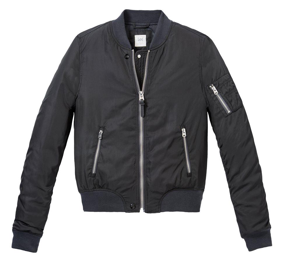 Куртка женская Lee, цвет: черный. L58SAN01. Размер M (44)L58SAN01Женская куртка-бомбер от Lee выполнена из высококачественного материала. Утепленная модель с длинными рукавами застегивается на молнию и дополнена карманами на молниях.