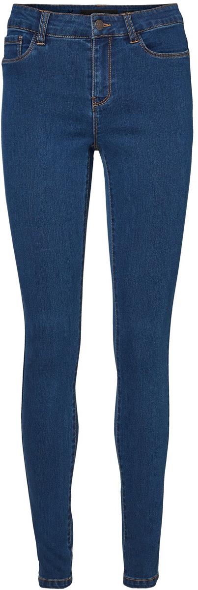 Джинсы женские Vero Moda, цвет: темно-синий. 10183044_Dark Blue Denim. Размер 30-32 (46-32)10183044_Dark Blue DenimСтильные женские джинсы Vero Moda - это джинсы высочайшего качества, которые прекрасно сидят. Джинсы застегиваются на пуговицу в поясе и ширинку на застежке-молнии, имеются шлевки для ремня. Джинсы имеют классический пятикарманный крой: спереди модель оформлена двумя втачными карманами и одним маленьким накладным кармашком, а сзади - двумя накладными карманами. Эти модные и в тоже время комфортные джинсы послужат отличным дополнением к вашему гардеробу.