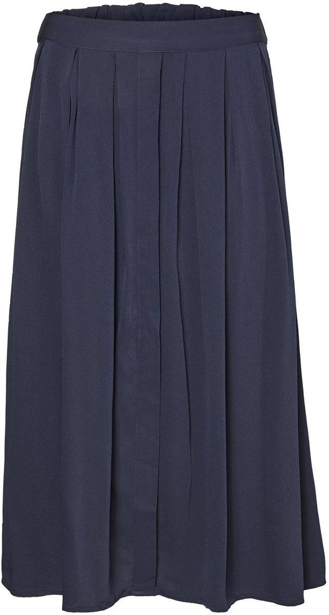 Юбка Vero Moda, цвет: темно-синий. 10185023_Night Sky. Размер S (42/44)10185023_Night SkyМодная женская юбка Vero Moda обеспечит вам комфорт и удобство при носке. Стильная юбка-миди дополнена складочками.Модная юбка выгодно освежит и разнообразит ваш гардероб. Создайте женственный образ и подчеркните свою яркую индивидуальность!