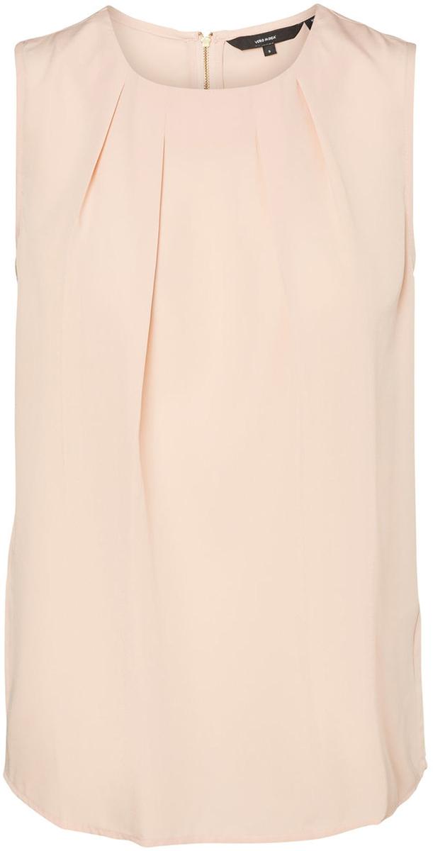 Блузка женская Vero Moda, цвет: розовый. 10185857_Rose Cloud. Размер M (46)10185857_Rose CloudБлузка женская Vero Moda с круглым вырезом горловины и без рукавов, сзади застегивается на молнию.