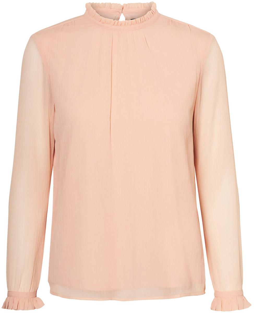 Блузка женская Vero Moda, цвет: розовый. 10185949_Rose Cloud. Размер M (46)10185949_Rose CloudБлузка женская Vero Moda с длинными рукавами и воротником стойкой сзади застегивается на пуговицу.