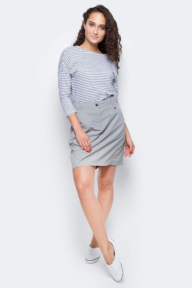 Футболка с длинным рукавом женская Columbia Harborside 3/4 Sleeve Shirt Jumper, цвет: темно-синий, белый. 1709561-464. Размер XL (50)1709561-464Стильная женская футболка Columbia изготовлена из высококачественных материалов с оригинальной текстурой. Футболка с круглым вырезом горловины и рукавами ? оформлена принтом в полоску.