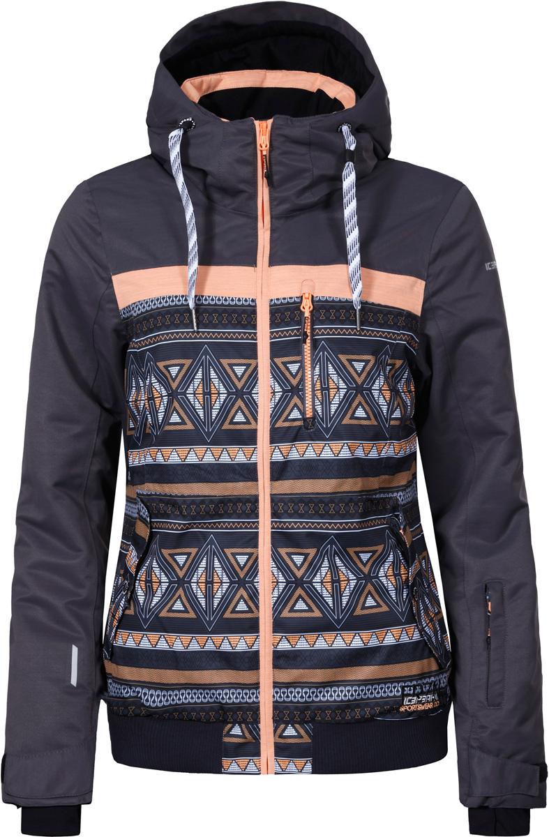 Куртка жен Icepeak, цвет: серый. 853233576IV_260. Размер 42 (48)853233576IV_260