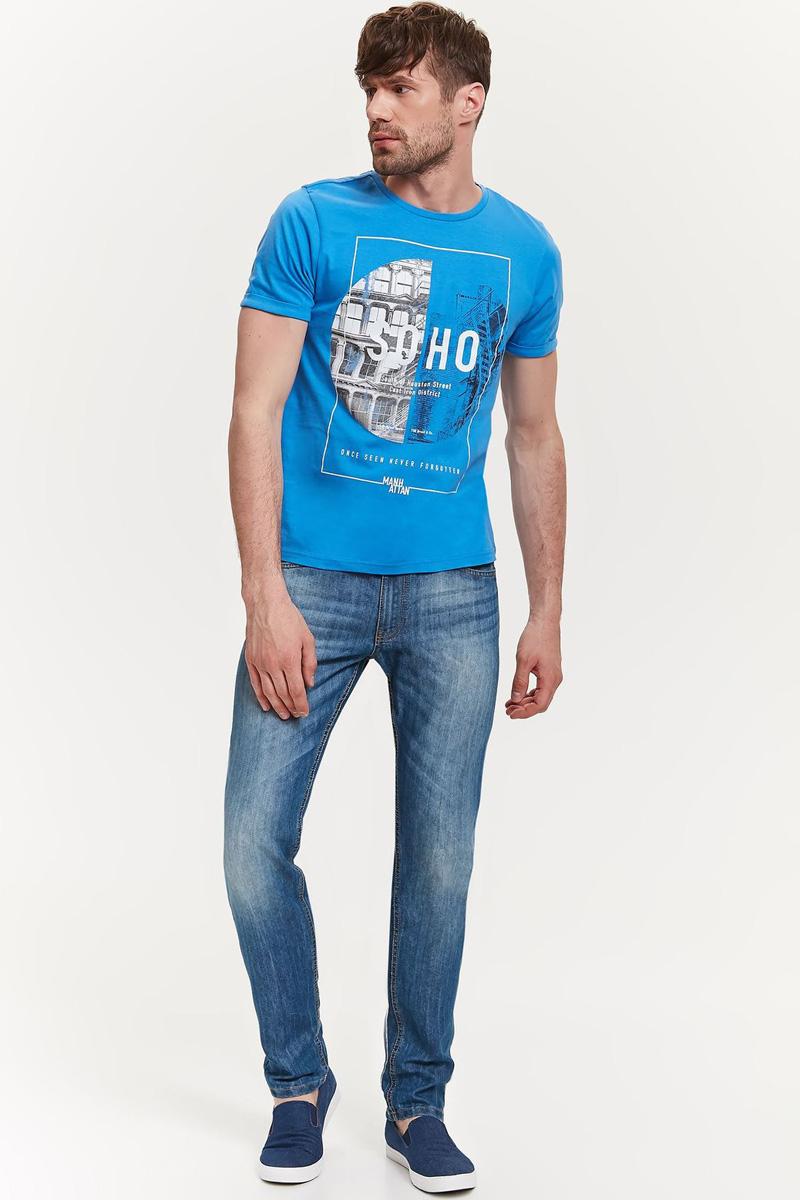 Футболка мужская Top Secret, цвет: синий. SPO3240NI. Размер M (46)SPO3240NIМужская футболка Top Secret выполнена из натурального хлопка. Модель с круглым вырезом горловины и короткими рукавами оформлена оригинальным принтом.